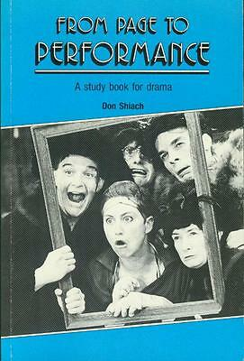 From page to performance - A study book for drama, von Don Shiach