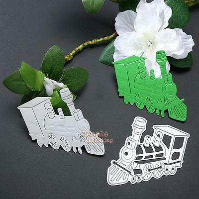 Train Metal Cutting Dies Stencil DIY Scrapbooking Album Paper Card Craft Decor