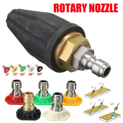 "6X Pressure Washer Water Rotating Rotary Turbo 035 Nozzle Tip 1/4"" Quick Release"