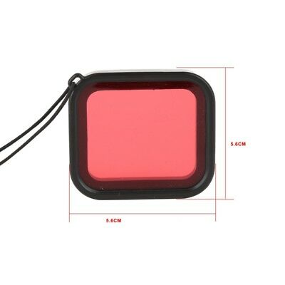 RED Diving Filter Lens Cover For GoPro Hero 6 5 Waterproof Housing Case