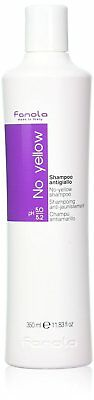 Fanola Shampoo No Yellow With Violet Pigment Get Rid Unwanted Brassy Tones 350ml
