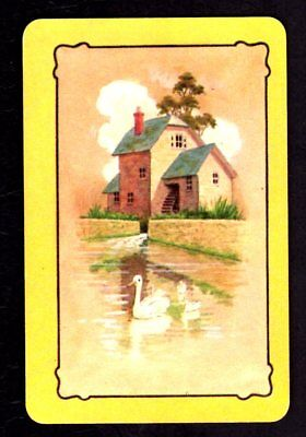 Coles Swap Card - un-named Water Wheel & White Swans