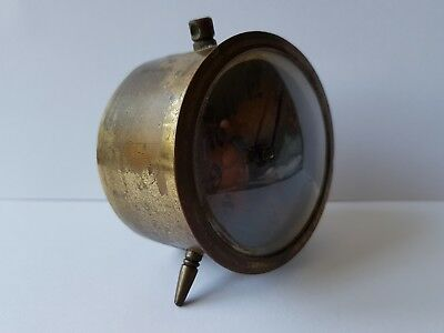 antique vintage small brass clock
