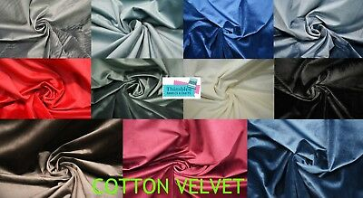 Heavy Weight Cotton Velvet Fabric Upholstery Dress Material Curtains 150cm Width