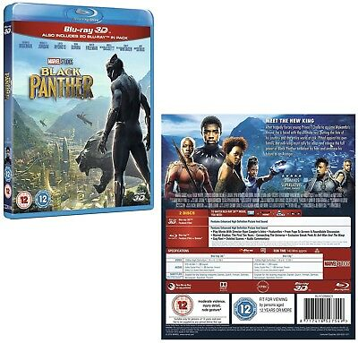 BLACK PANTHER (2018) Marvel, Action, Sci-Fi - NEW 3D + 2D Rg Free BLU-RAY
