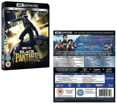 BLACK PANTHER (2018) Marvel, Action, Sci-Fi NEW 4K Ultra UHD + 2D RgFree BLU-RAY