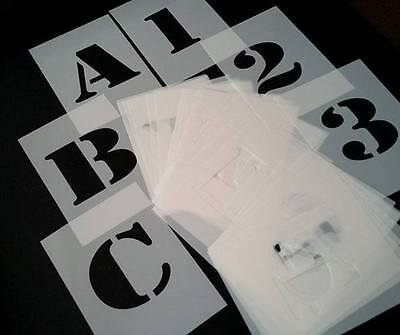 approx 2 inches / 5cm HIGH ARMY STYLE STENCILS Alphabet Letters and Numbers