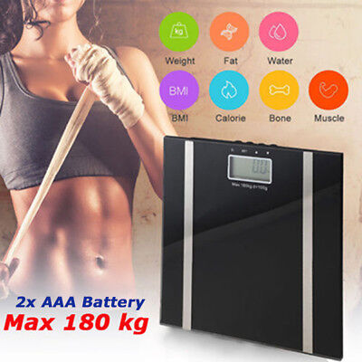 180KG Digital Personal Bathroom Weight Scales Body Fat LCD Display Electronic CS