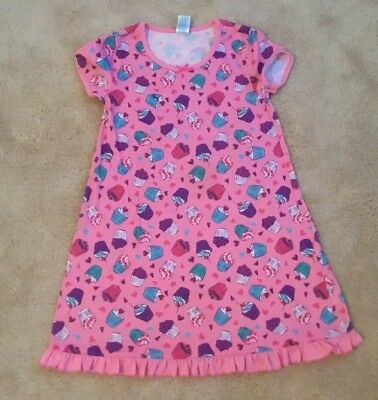 girls' nightgown pink w/cupcakes TCP size 7-8