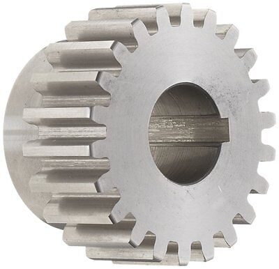 """Boston Gear ND42A Spur Gear, 14.5 Pressure Angle, Steel, Inch, 12 Pitch, 0.625"""""""