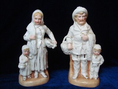 An Antique Pair Of Porcelain Figures, 'fisher Folk'.