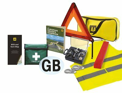 Euro Travel Kit Essentials Car Driving Set Europe Roads First Aid Box Emergency