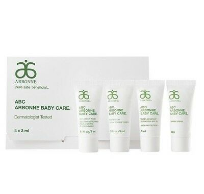 Arbonne Baby Care ABC Travel/ Sample Pack 4x 3ml ( DERMATOLOGIST TESTED)