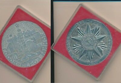 Russia (USSR): 1975 WWII Victory 30th Anniversary 75mm Large Medal cased