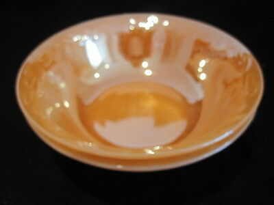 Anchor Hocking Fire King Peach Large Serving Bowls - 1950's Era