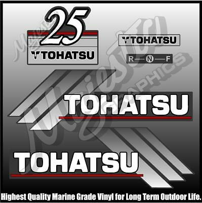 Tohatsu 50hp Automixing Outboard Decals 52 25