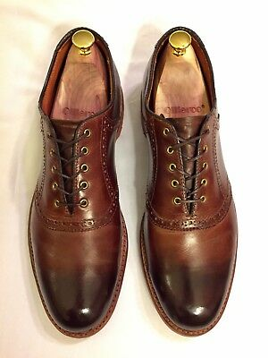 Lands' End Goodyear welted saddle shoe, Size 11M, Brown