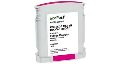 Clover Remanufactured Postage Meter Magenta Ink Cartridge for Pitney Bowes 787 E