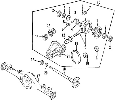 Ford Rear Pinion Seal Diagram