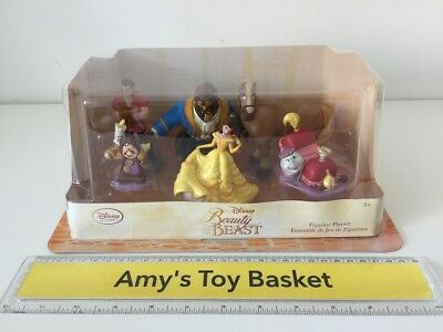 Disney Store Beauty & the Beast Figures Playset Figurines Princess NEW Toys