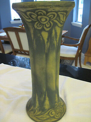 Red Wing Pottery brushed ware vase 18 inch rare