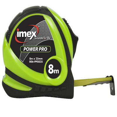 Imex 8m Tape Measure 25mm Double Sided Blade