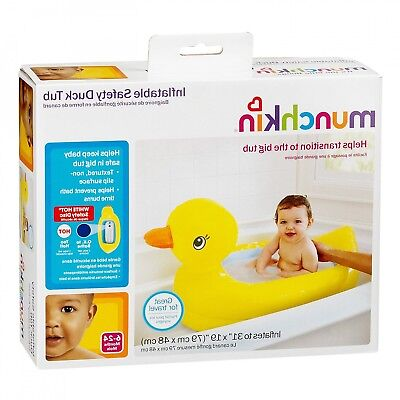 Munchkin--Inflatable Duck Tub White Hot/Cool Blue Safety Dot New In Box