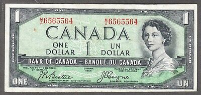 1954 Bank of Canada - $1 Devil Face Note - VF - Beattie Coyne - M/A 6565564