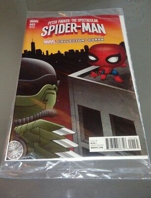 Marvel Collectors Corps spectacular spider-man variant comic #001 new & sealed