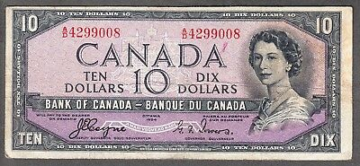 1954 Bank of Canada - $10 Devil Face Note - Fine - Coyne Towers - A/D 4299008