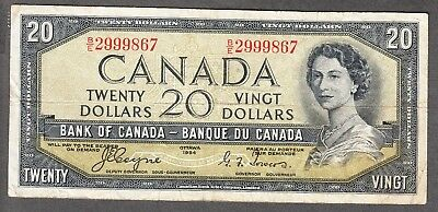 1954 Bank of Canada - $20 Devil Face Note - Fine - Coyne Towers - B/E 2999867