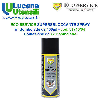 ECO SERVICE SUPERSBLOCCANTE SPRAY 400ml cod 81710/04 Confez 12 Bombolette Svitol