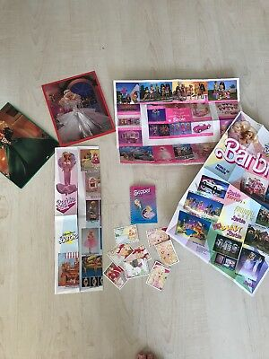 Barbie 3 Booklets In Posterform 1988/1991, Sticker und Karten der Happy Holydays