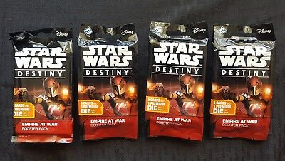 Star Wars Destiny - Empire At War Booster Packs x4 (4 Pack Lot)