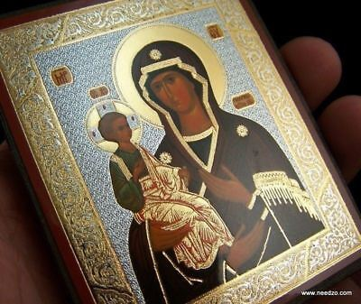 Russian Orthodox Icon Three Handed Virgin Mary With Christ Child Image Icon 3""