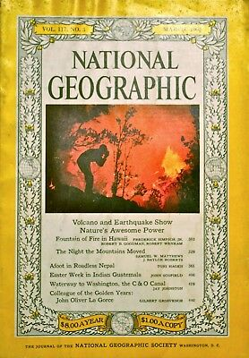 National Geographic Magazine March 1960 Volcano, Earthquake, Guatemala !
