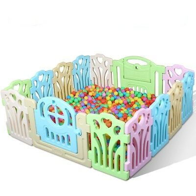 16 PCS Panel Foldable Baby Playpen Kids Security Play Pens Indoor Outdoor Divide