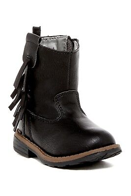 NEW Girls Carters Baby Toddler Size 5 6 7 8 9 or 10 Ankle Cowboy Boots Fringe