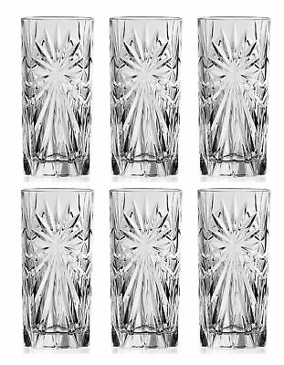Set OF 6X RCR Italian Crystal Hi-Ball Tumblers Oasis Glass 36cl -SAME DAY SHIP