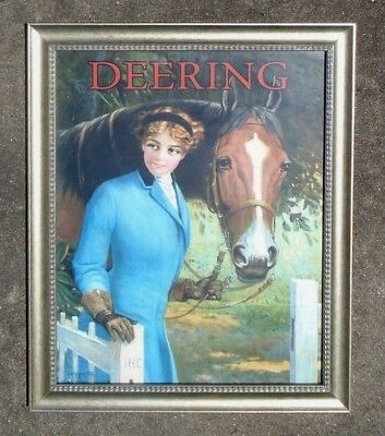rare graphic paper poster advertising Deering International Harvester  R A  Fox