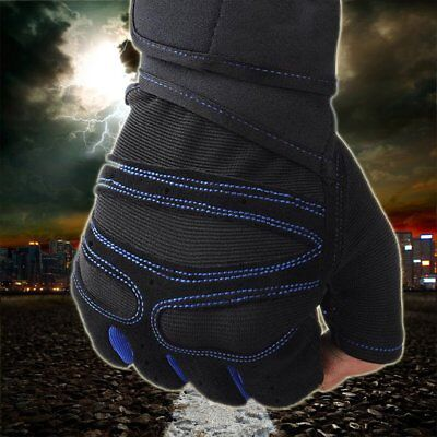 Weight Lifting Gloves Padded Leather Fitness Body Building Gym Training Sports