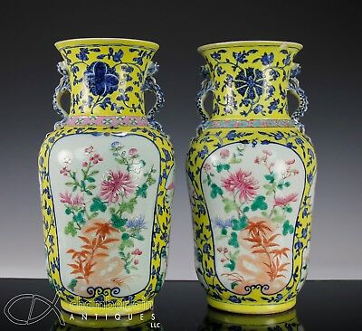 Mirror Pair Of Antique Chinese Porcelain Vases With Underglaze Blue