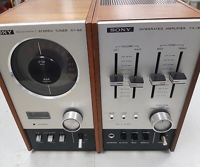 1970s VINTAGE SONY TA-88 & ST-88 STEREO MUSIC SYSTEM AMPLIFIER & TUNER