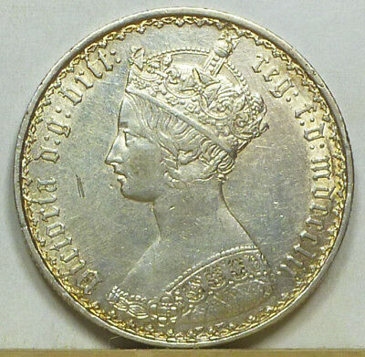 Great Britain Gothic Florin 1852 Extremely Fine NO RESERVE