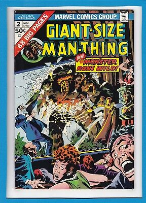 Giant-Size Man-Thing #2_Nov 1974_Very Good Minus_Bronze Age Marvel Horror!