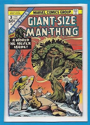 Giant-Size Man-Thing #3_Feb 1975_Good/very Good_Bronze Age Marvel Horror!