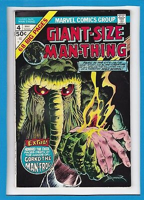 Giant-Size Man-Thing #4_May 1975_Very Good Minus_Bronze Age Marvel Horror!