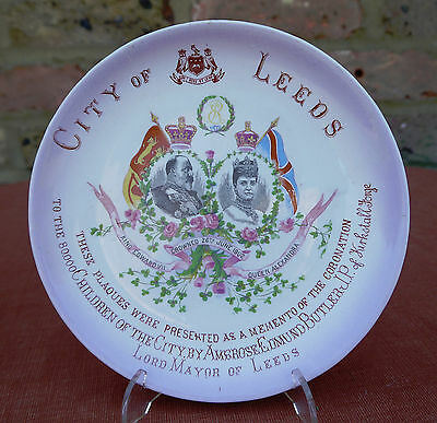 King Edward VII Coronation Momento Plaque for City of Leeds 1902