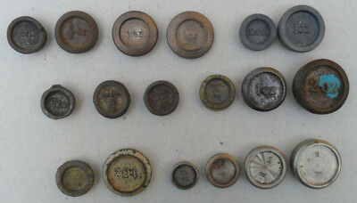 Large Group 18 Small Mixed Metal Weights