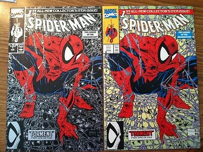 Marvel Spider-Man #1 Todd McFarlane Green and Black Hot Comic Book Lot